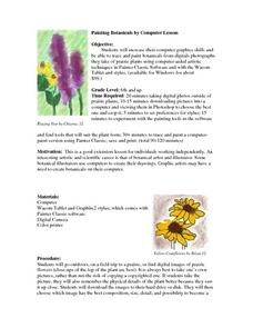 Painting Botanicals by Computer Lesson Plan