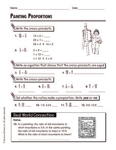 Painting Proportions Worksheet