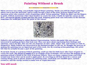 Painting Without a Brush Lesson Plan