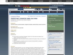 Pakistan: Country and Culture Lesson Plan