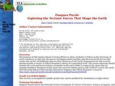 Pangaea Puzzle: Exploring the Tectonic Forces That Shape the Earth Lesson Plan
