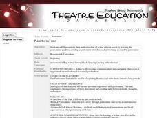 Pantomime Lesson Plan