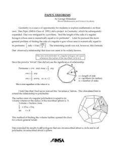 Pape's Theorems Lesson Plan