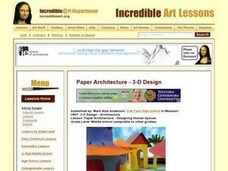 Paper Architecture - Designing Human Spaces Lesson Plan