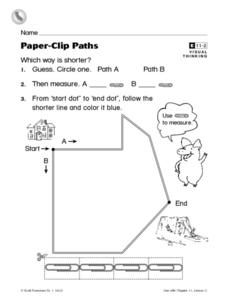 Paper Clip Path- Using Paper Clips to Measure Worksheet