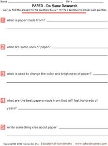 PAPER - Do Some Research Worksheet