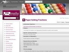 Paper-folding Fractions Lesson Plan