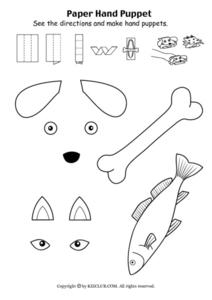Paper Hand Puppets Worksheet