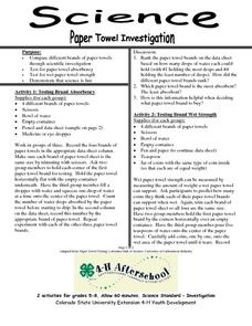 Paper Towel Investigation Lesson Plan