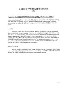 Paragraph Development Worksheets - Secretlinkbuilding