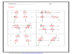 ... Lines and Transversal Wroksheet 10th Grade Worksheet | Lesson Planet