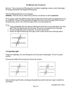 Parallel Lines Cut by a Transversal Lesson Plan