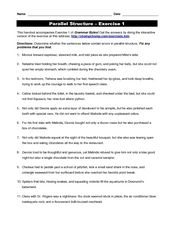 essay writing parallel structure