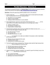 Sentence Structure Worksheet - Delibertad