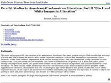 Parallel Studies in American/Afro-American Literature, Part II -- Black and White Images in Alienation Lesson Plan