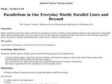 Parallelism in Our Everyday World: Parallel Lines and Beyond Lesson Plan