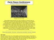 Paris Peace Conference: Writing a Treaty to End World War I Lesson Plan