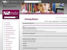 Parking Meters Lesson Plan