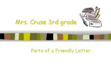 Parts of a Friendly Letter Lesson Plan