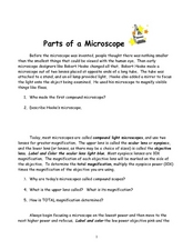 parts of a microscope 9th 10th grade worksheet lesson planet. Black Bedroom Furniture Sets. Home Design Ideas