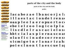 Parts of the City And the Body Worksheet