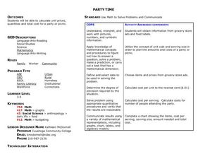 Party Time Lesson Plan