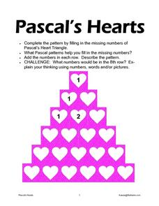 Pascal's Hearts Worksheet