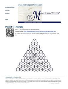 Pascal's Triangle Worksheet