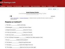 Passive or Active? Worksheet