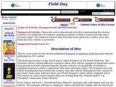 Passport to the World Field Day Lesson Plan