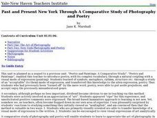 Past and Present New York Through A Comparative Study of Photography and Poetry Lesson Plan