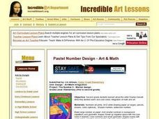 Pastel Number Design and Number Sentencing Lesson Plan