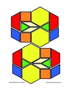 Pattern Blocks Designs Worksheet