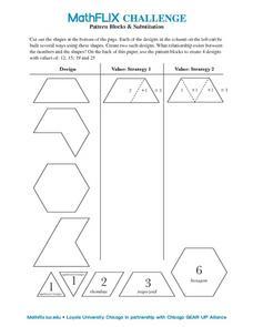 Worksheets. Pattern Blocks Worksheet. Opossumsoft Worksheets and ...