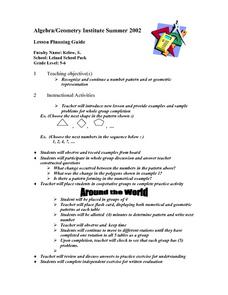 Patterns and Geometric Representations Lesson Plan