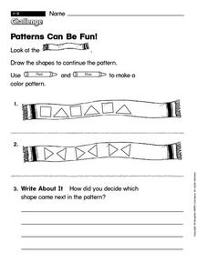 Patterns Can Be Fun! Worksheet
