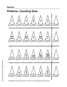 Patterns: Counting Dots Worksheet