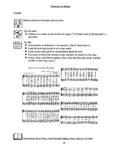 Patterns In Music Lesson Plan