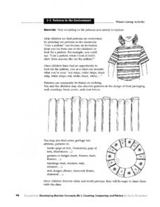 Patterns In The Environment Worksheet