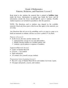 Patterns, Relations, and Functions: Lesson 2: Odd and Even Numbers Lesson Plan