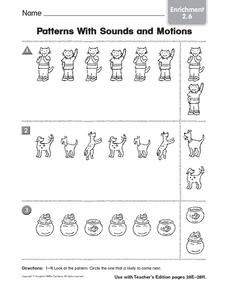 Patterns With Sounds and Motions Worksheet