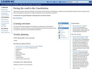Paving the Road to the Constitution Lesson Plan