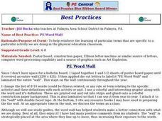 PE Word Wall Lesson Plan