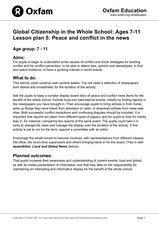 Peace and Conflict in the news Lesson Plan