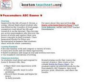 Peacemakers ABC Banner Lesson Plan