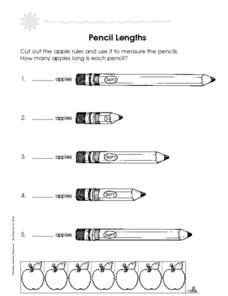 Pencil Lengths Worksheet