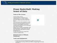 Penny Basketball: Making Sense of Data Lesson Plan