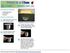 Penny In a Glass Lesson Plan