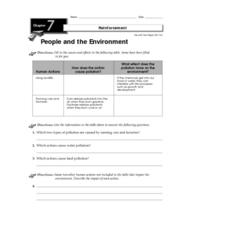People and the Environment Worksheet