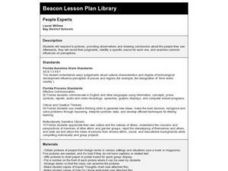 People Experts Lesson Plan